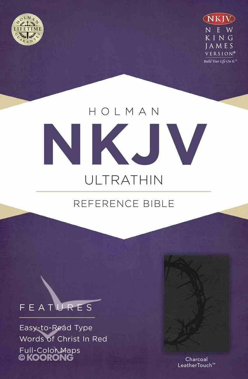 NKJV Ultrathin Reference Bible Charcoal Imitation Leather