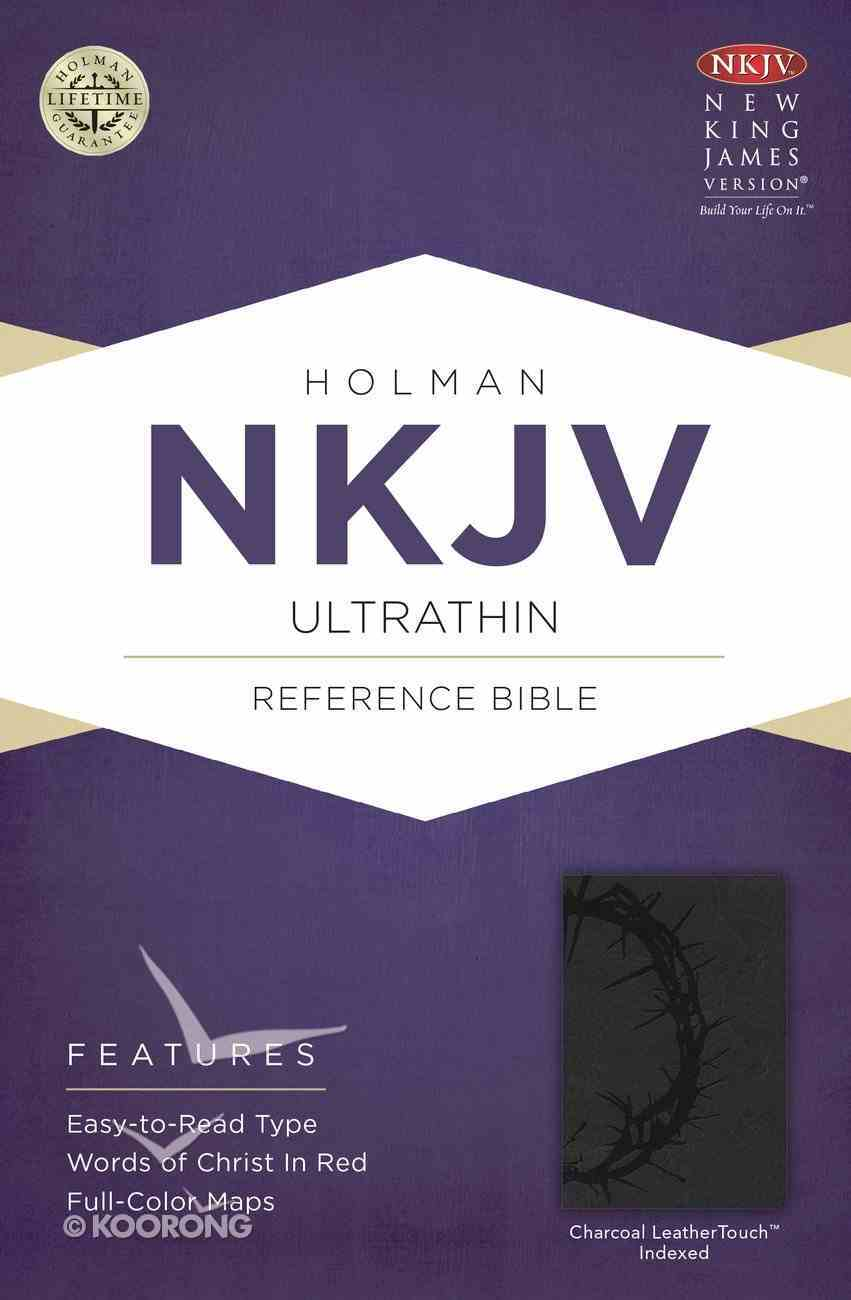 NKJV Ultrathin Reference Indexed Bible Charcoal Imitation Leather