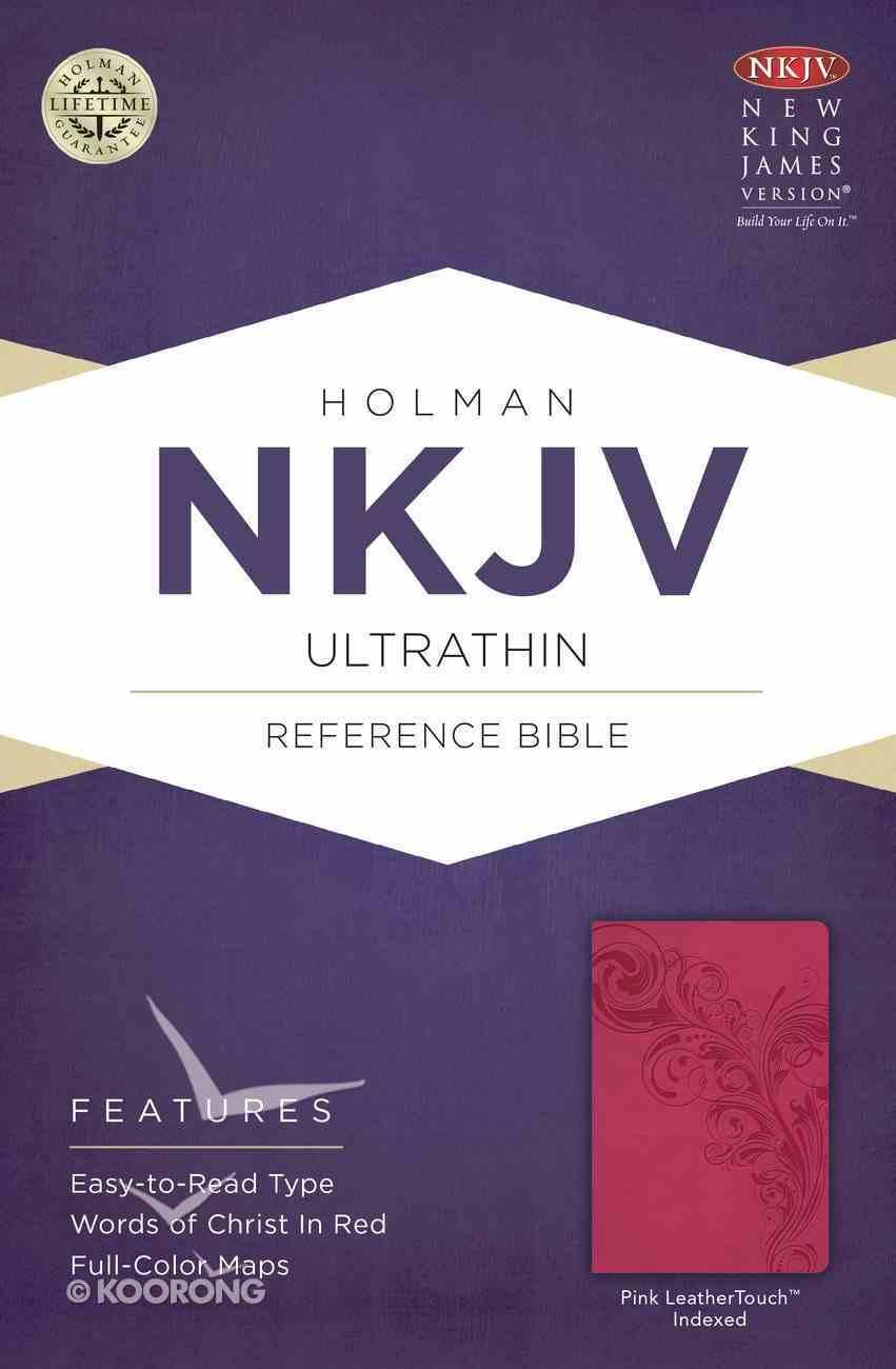 NKJV Ultrathin Reference Indexed Bible Pink Imitation Leather