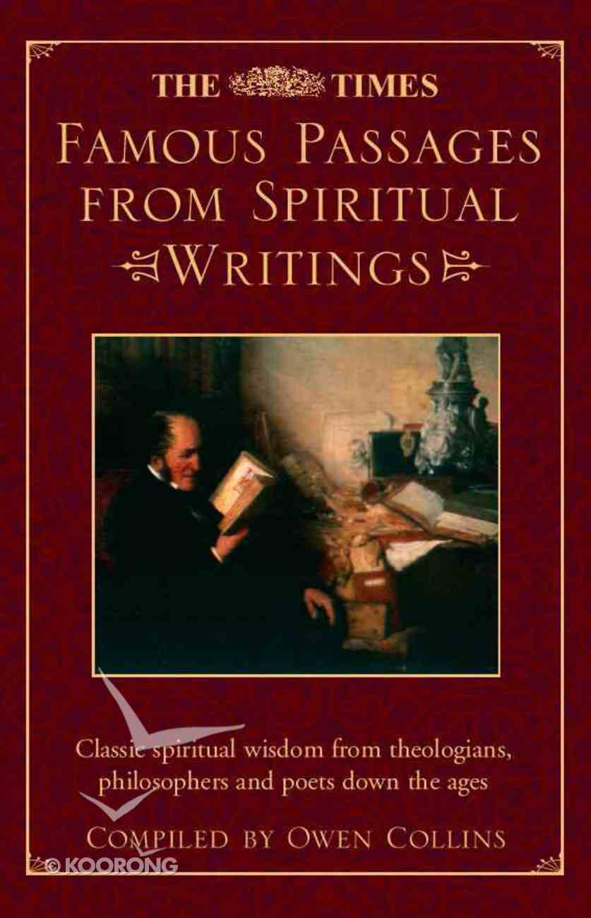 Times Famous Passages From Spiritual Writings Hardback