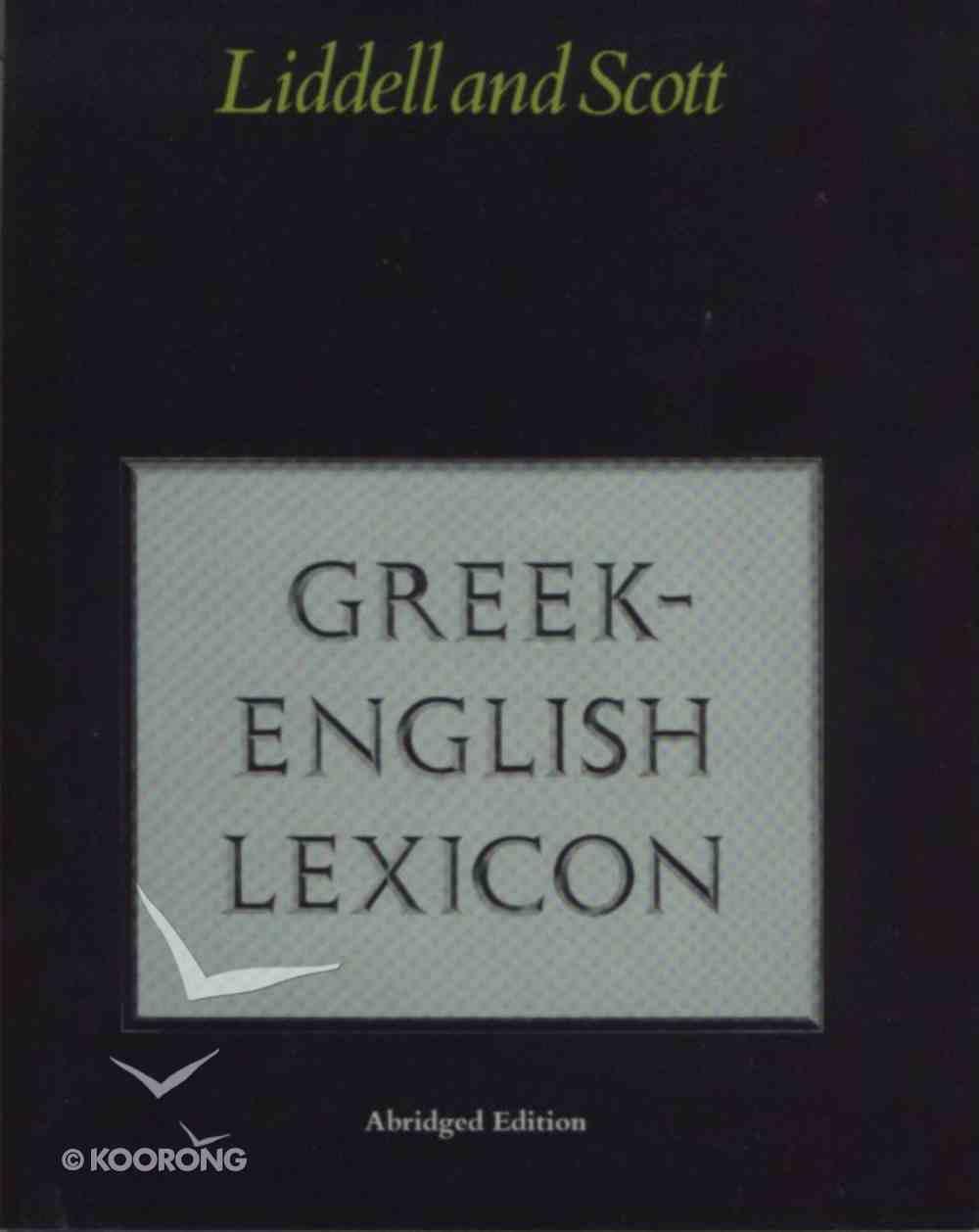 Greek English Lexicon (Abridged) Hardback