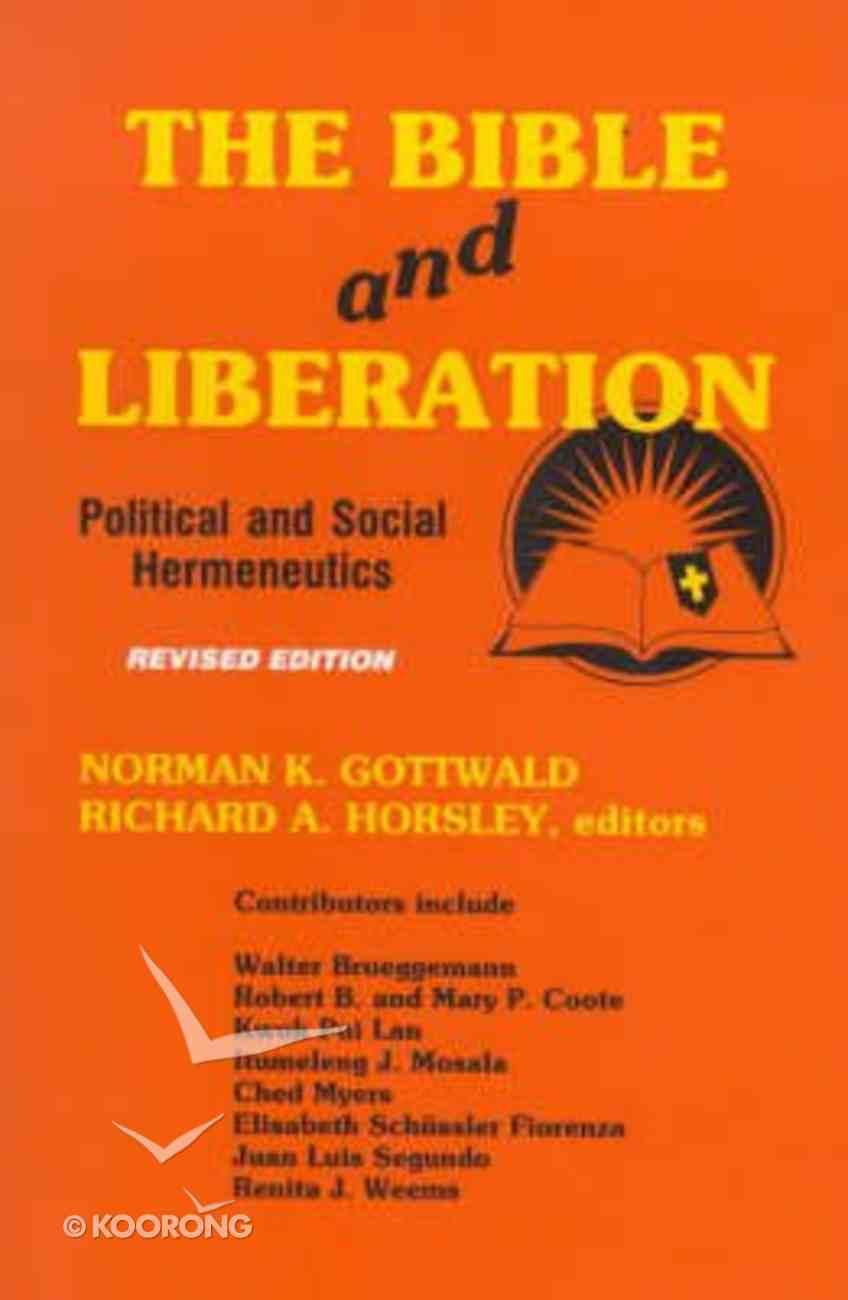 The Bible and Liberation Hardback
