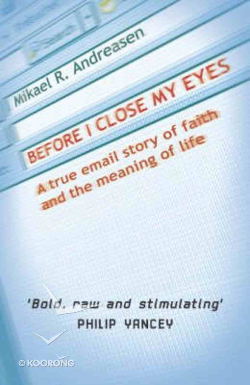 Before I Close My Eyes Paperback
