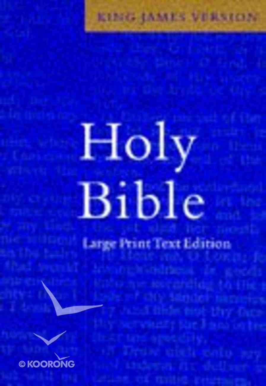 KJV Large Print Text Blue Hardback