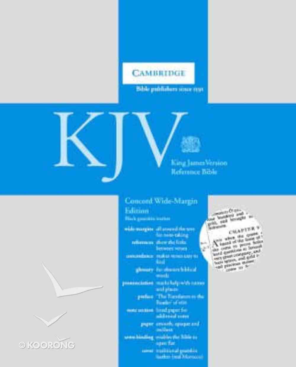 KJV Concord Wide Margin Reference Goatskin Black Genuine Leather