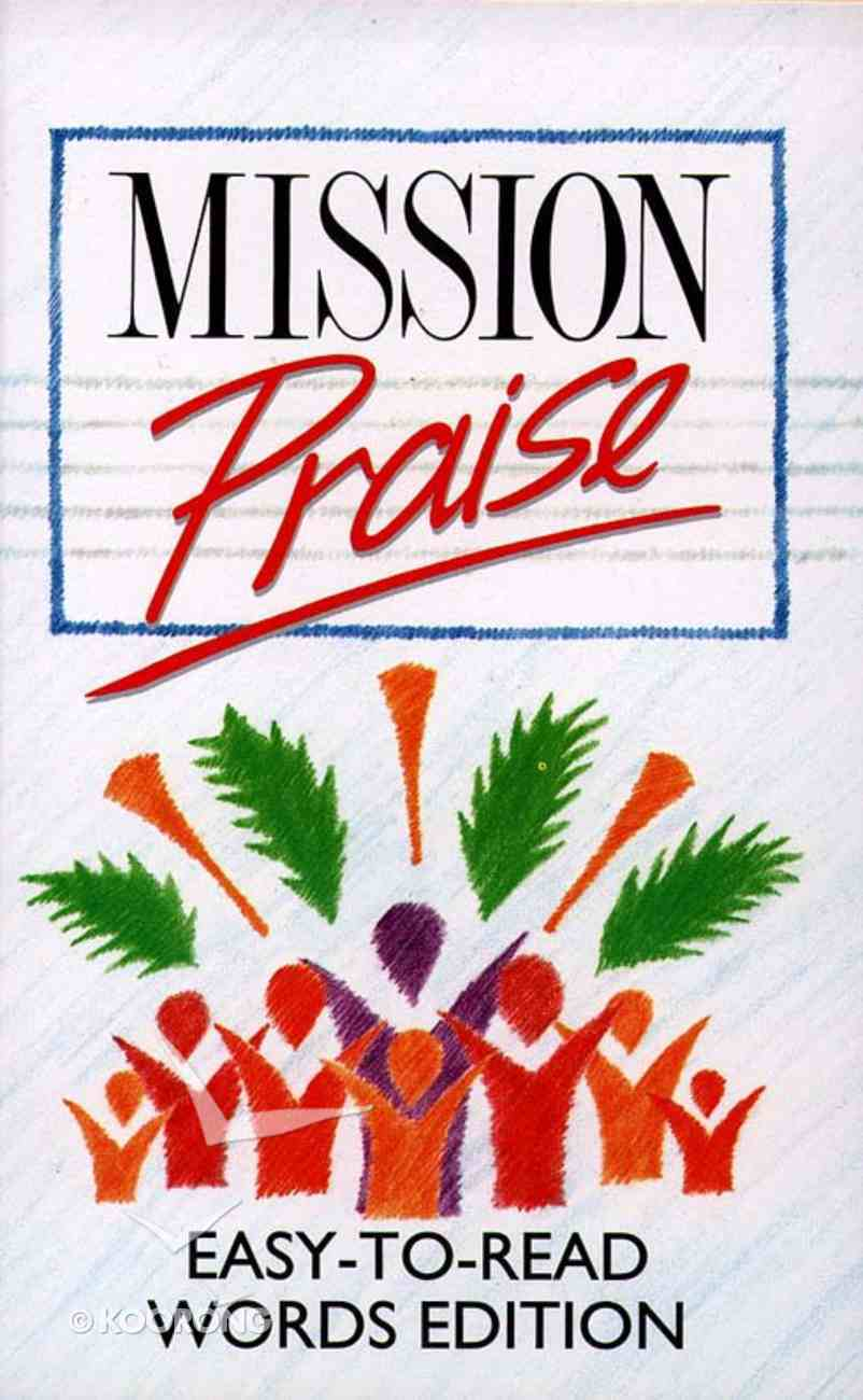 Mission Praise Combined Easy Read Words Hardback