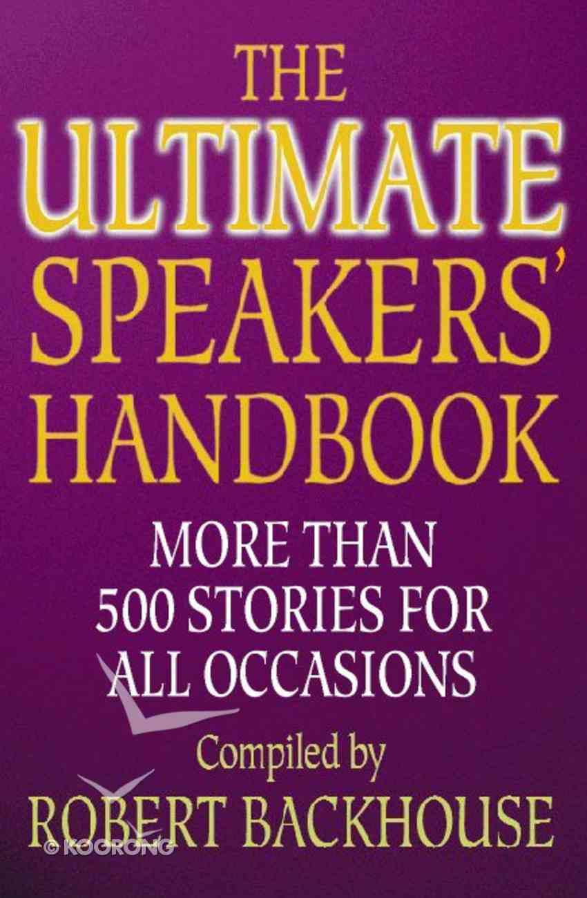 Ultimate Speakers Handbook Paperback
