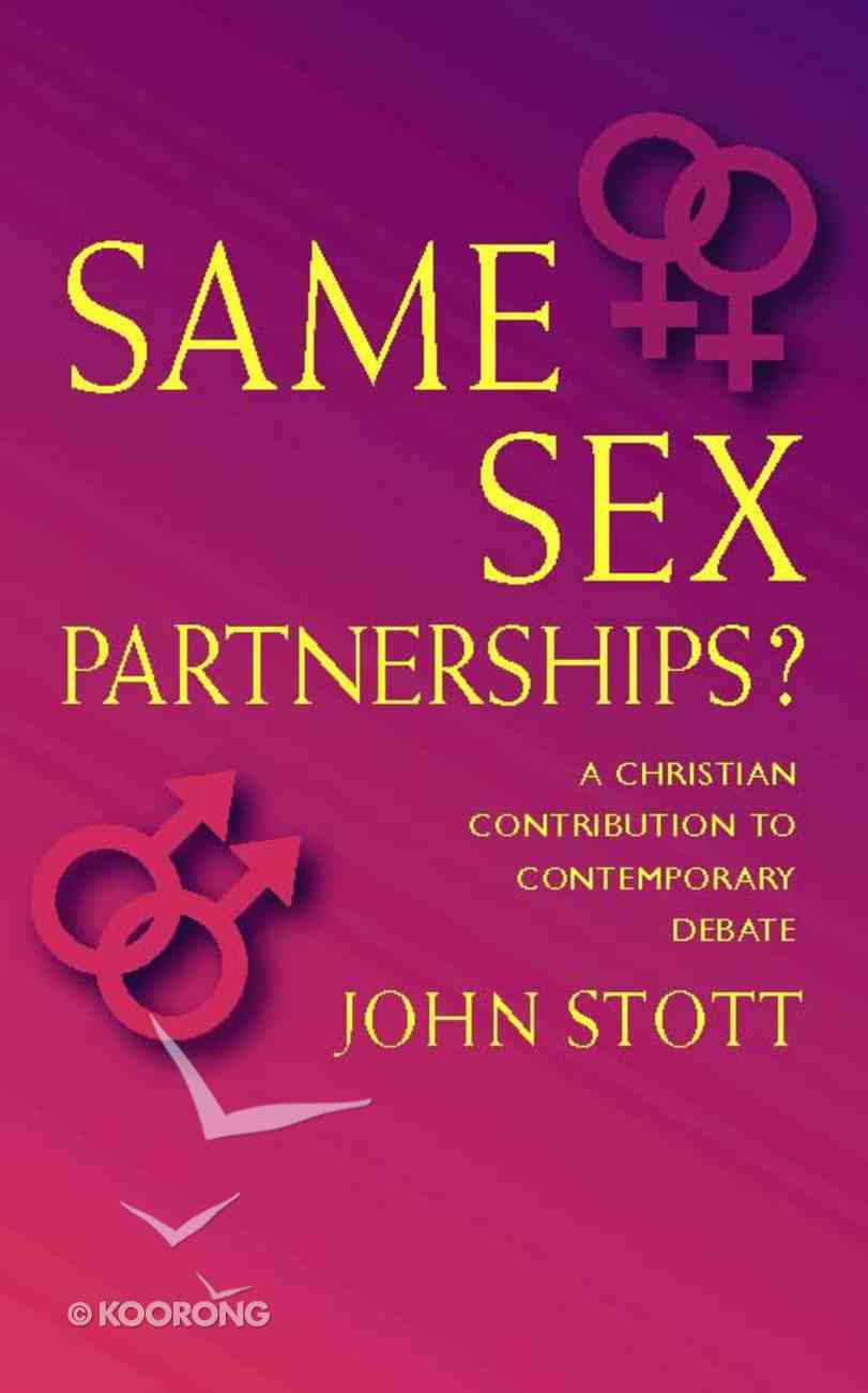 Same Sex Partnerships? Paperback