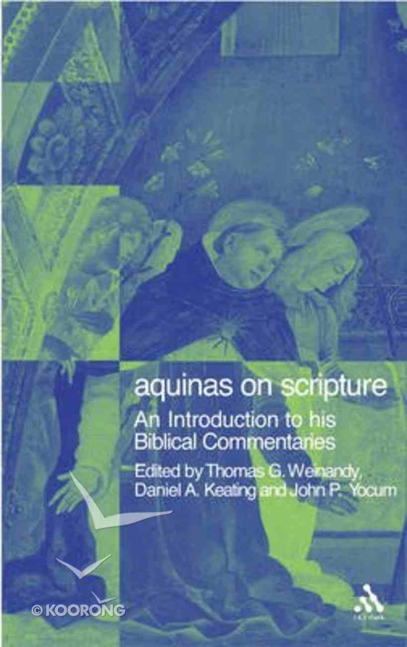 Aquinas on Scripture Paperback