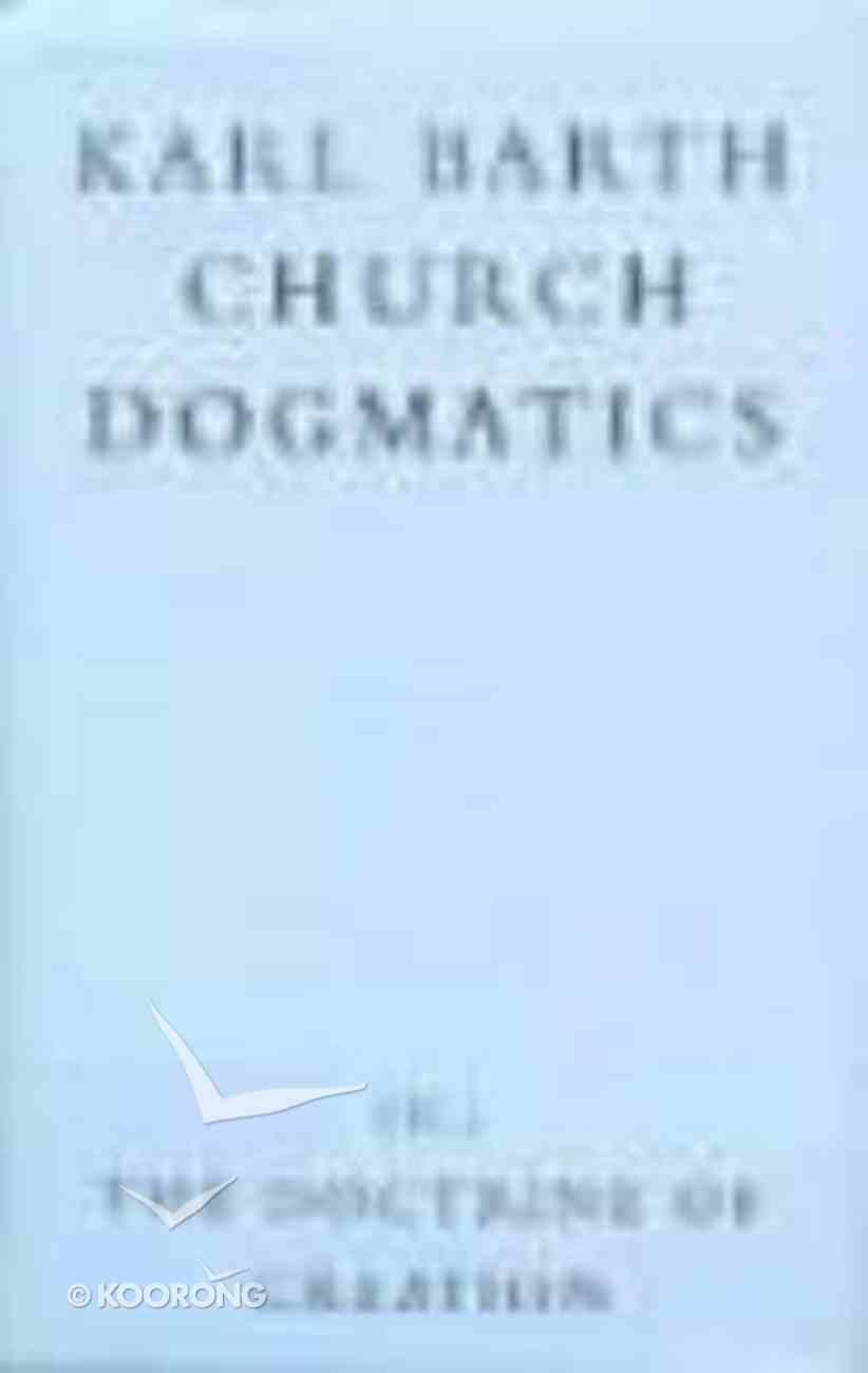 (Church Dogmatics Series) Hardback
