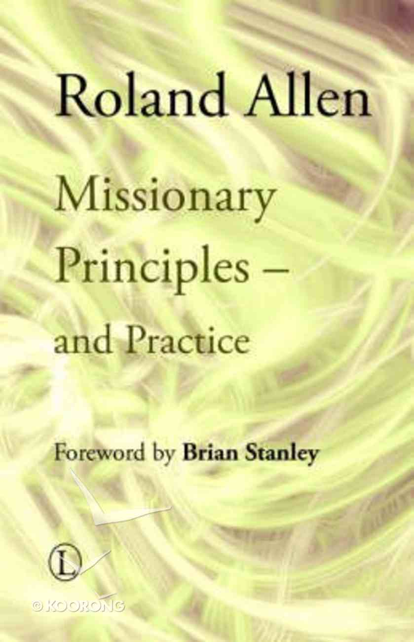 Missionary Principles Paperback