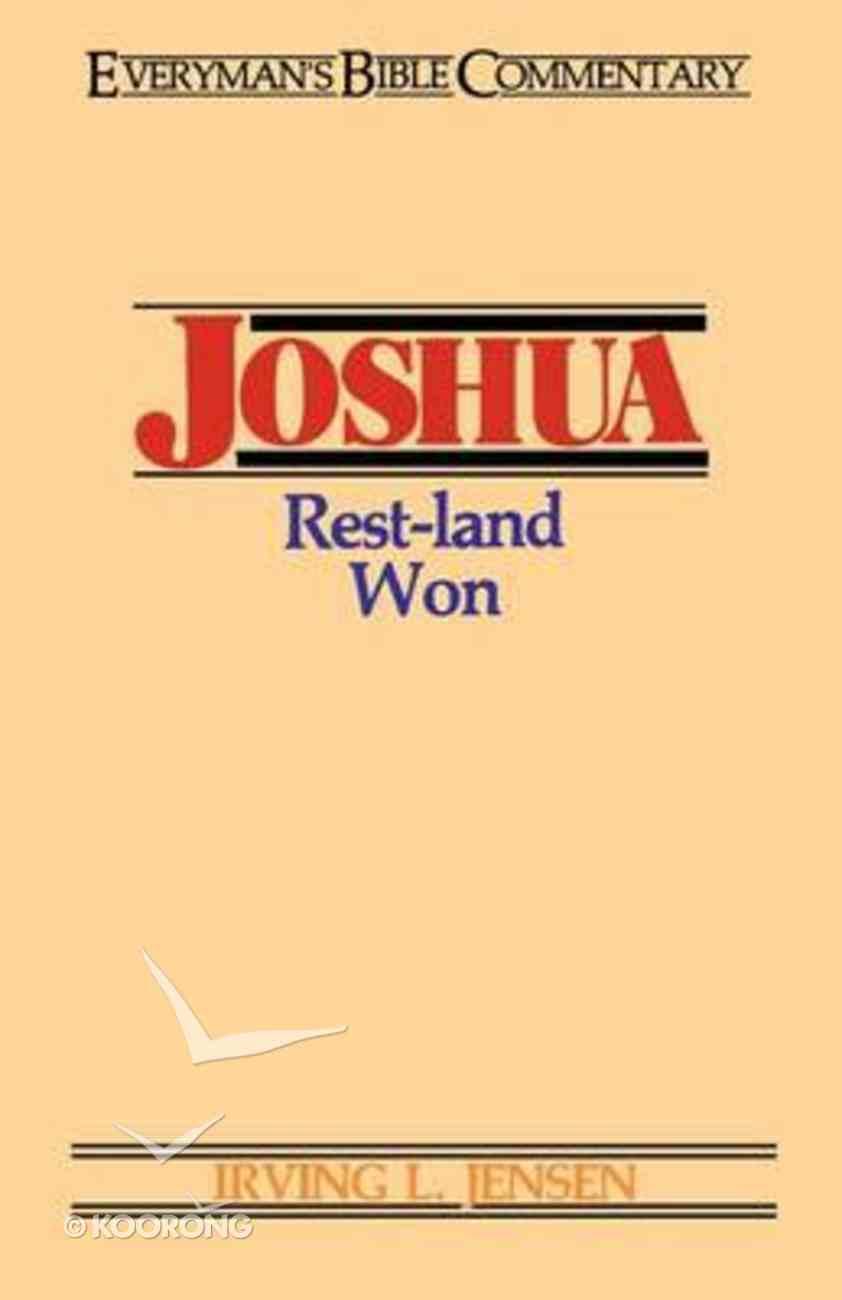 Joshua (Everyman's Bible Commentary Series) Paperback