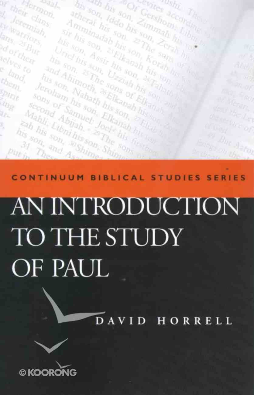 An Introduction to the Study of St Paul Paperback