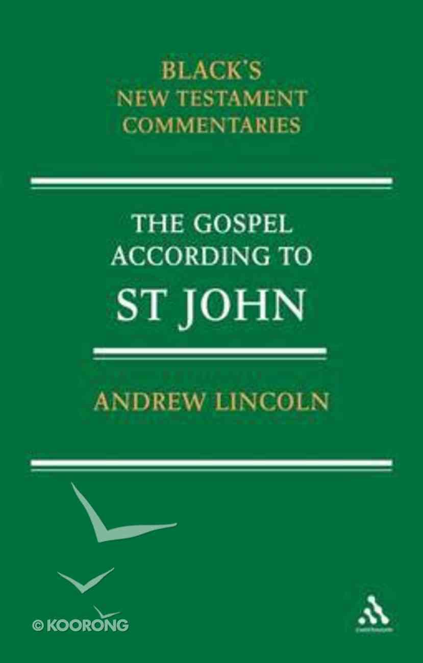 The Gospel According to Saint John (Black's New Testament Commentary Series) Paperback
