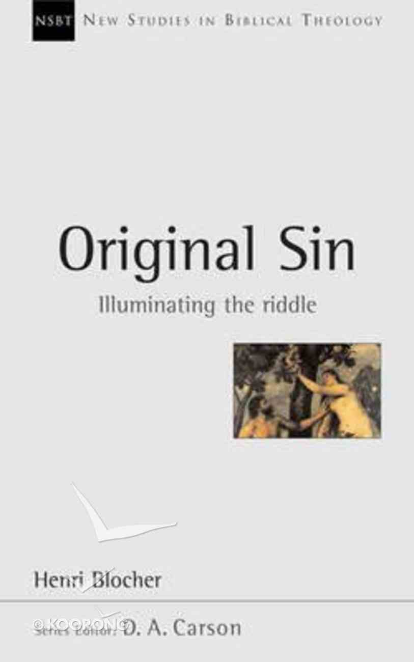 Original Sin (New Studies In Biblical Theology Series) Paperback