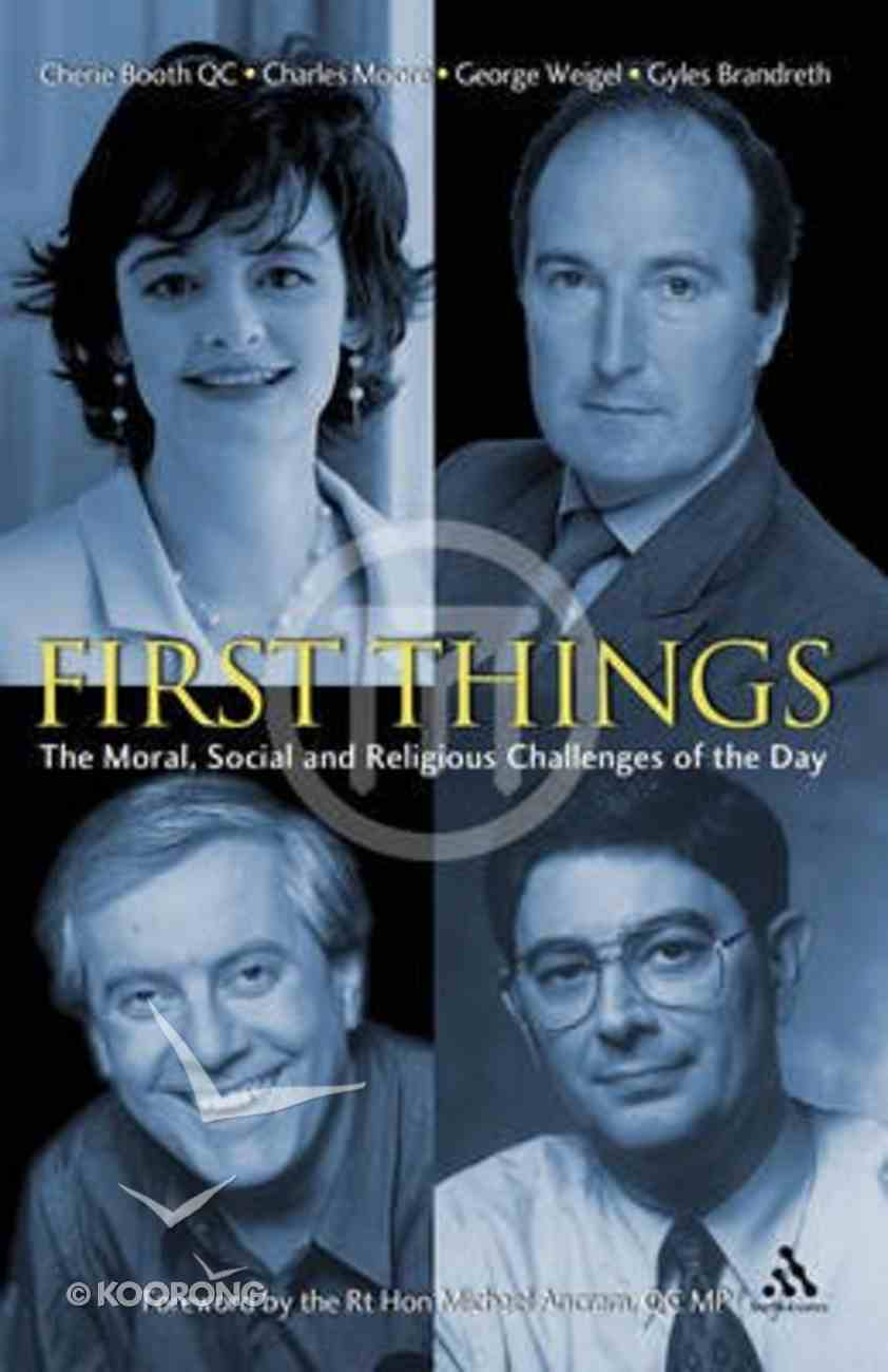 First Things Paperback