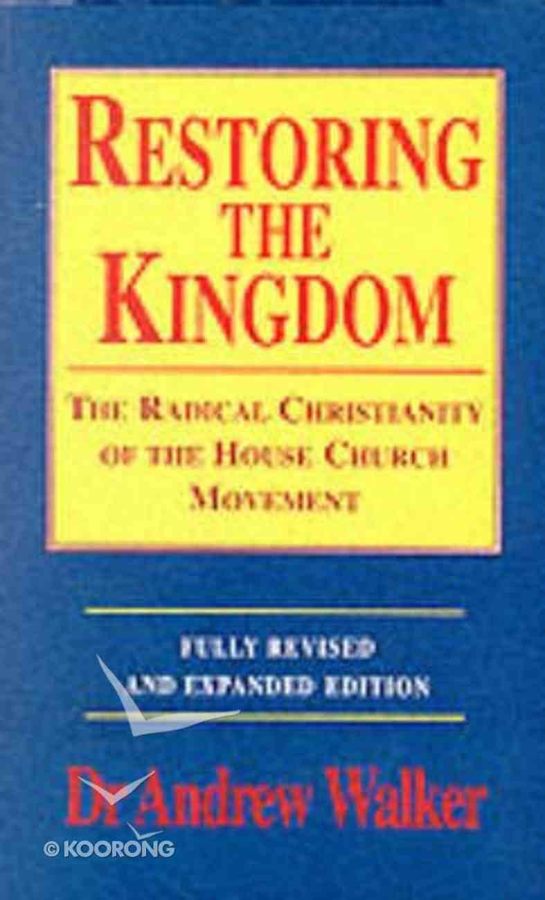 Restoring the Kingdom Paperback