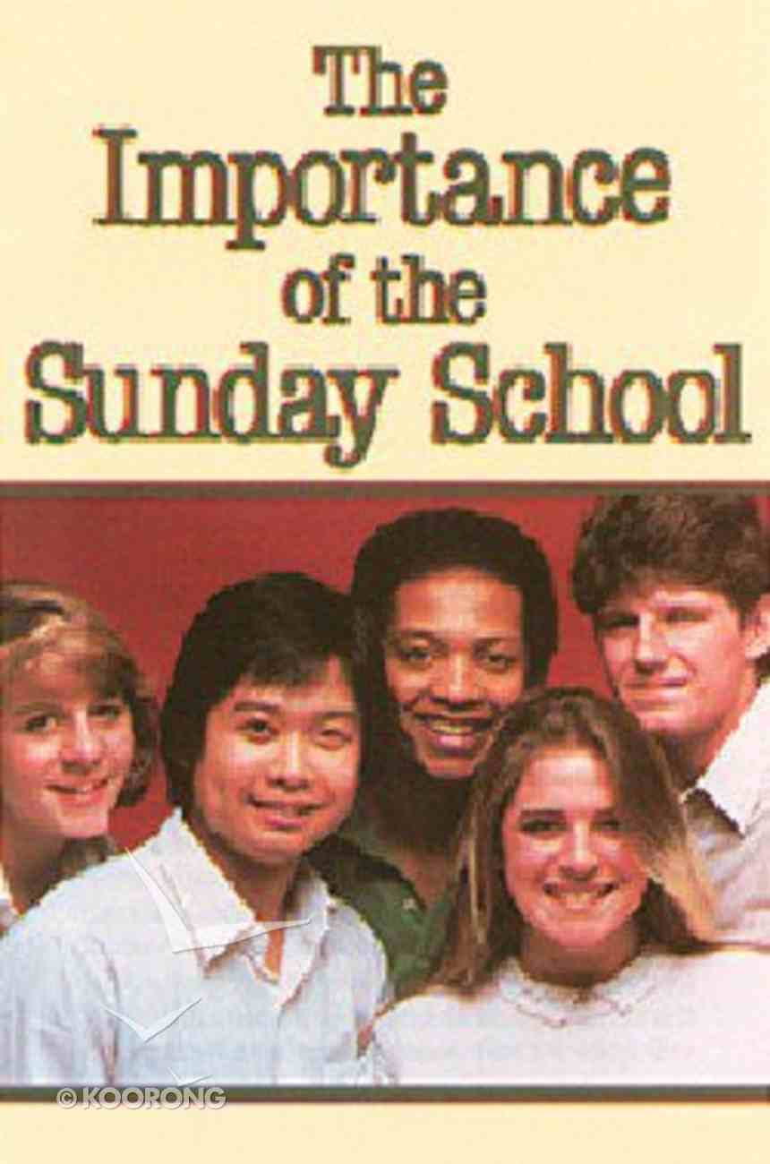 Importance Sunday School (25 Pack) Booklet