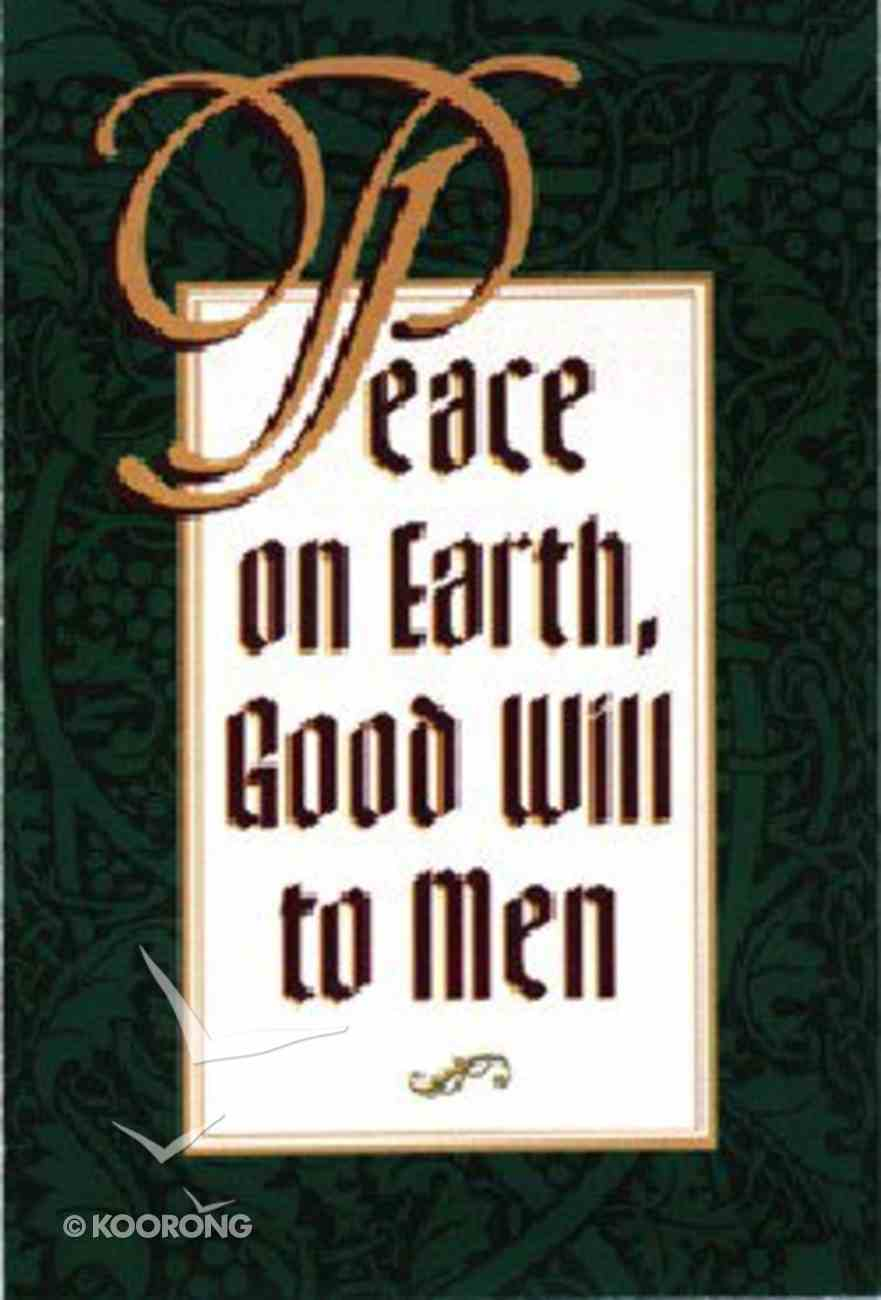 Peace on Earth (25 Pack) Booklet