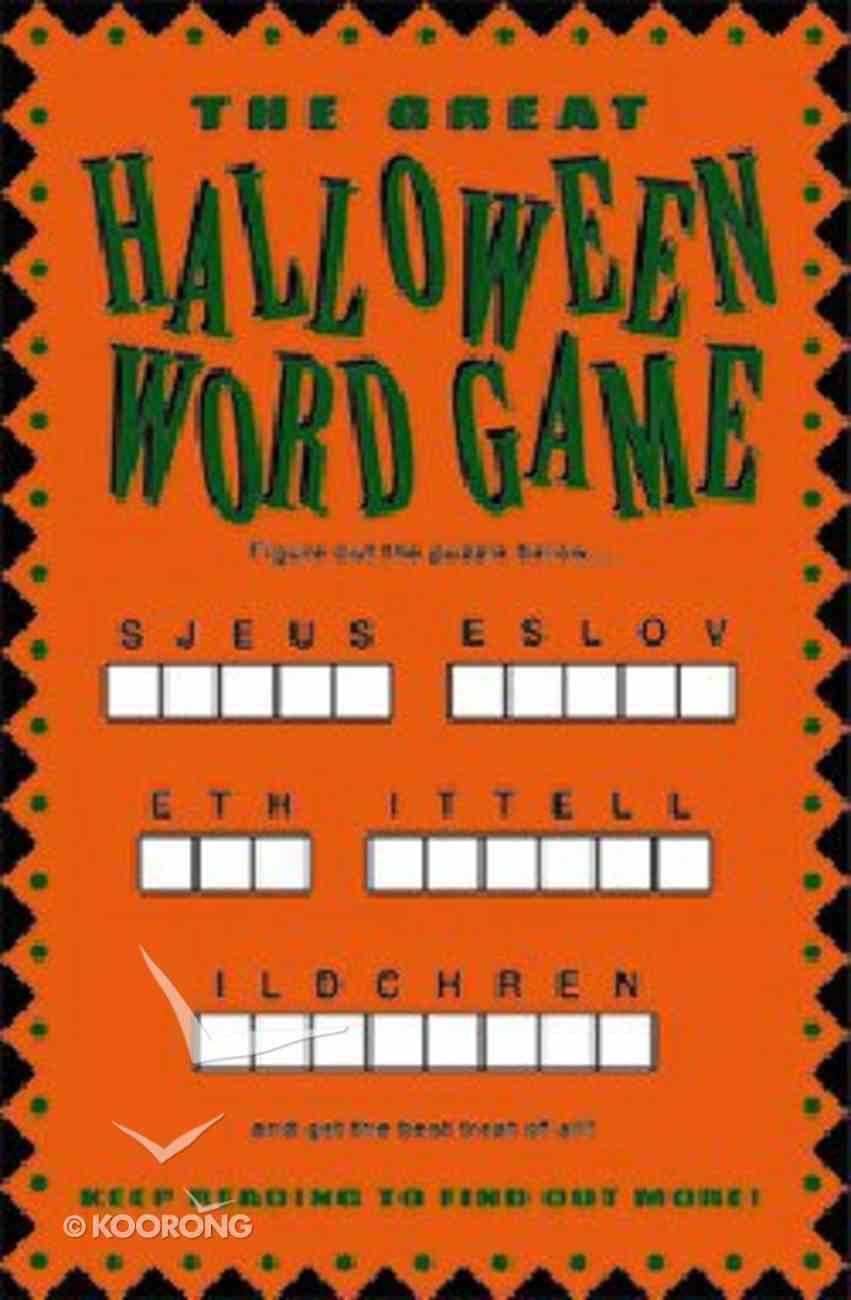 Halloween Word Game (25 Pack) Booklet