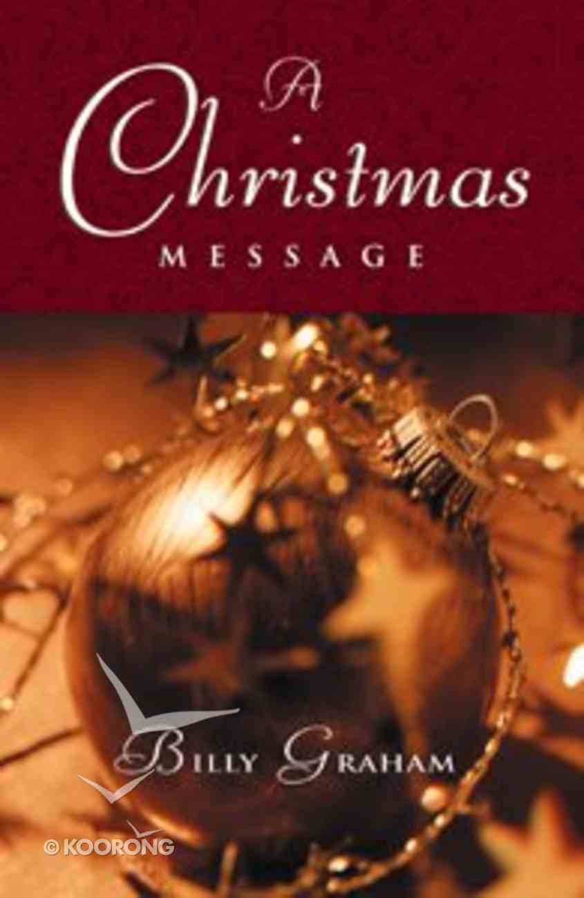 Christmas Message Billy Graham (25 Pack) Booklet