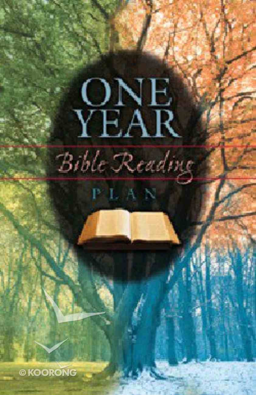 One Year Bible Reading Plan (25 Pack) Booklet