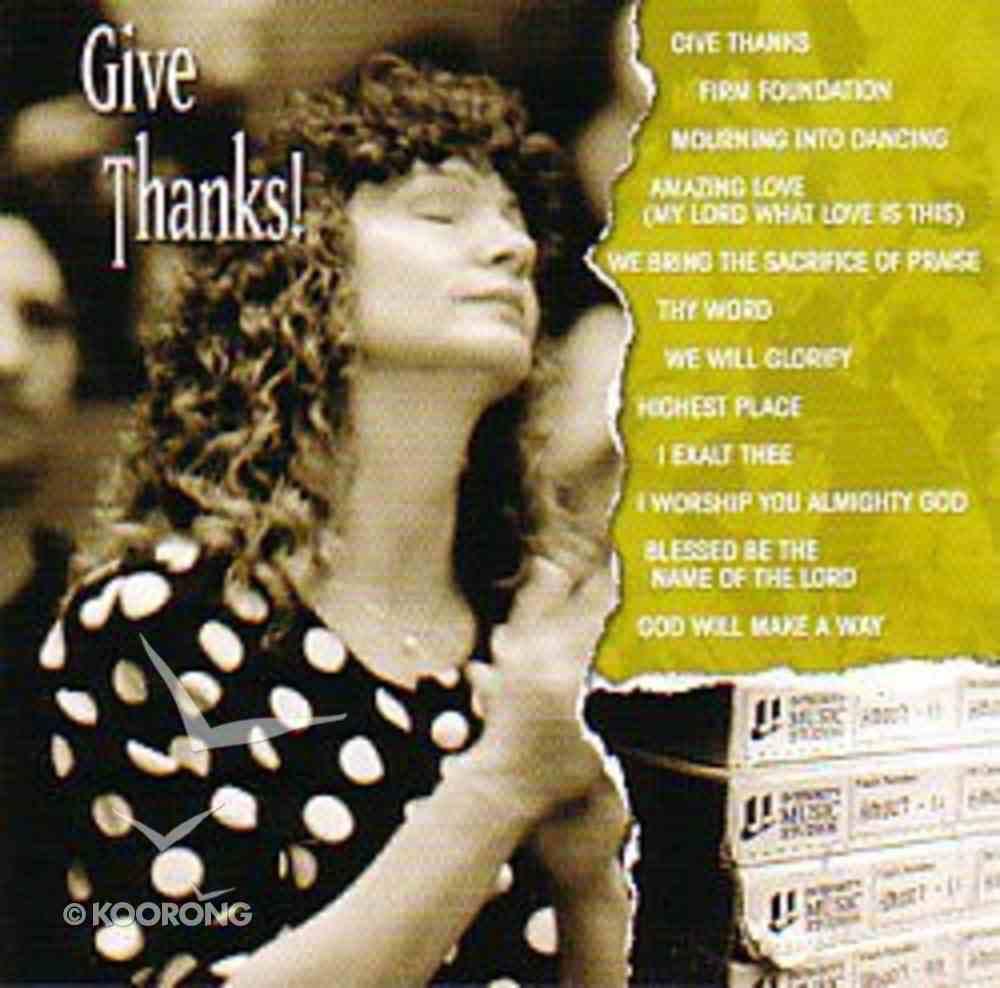 Vintage Worship: Give Thanks CD