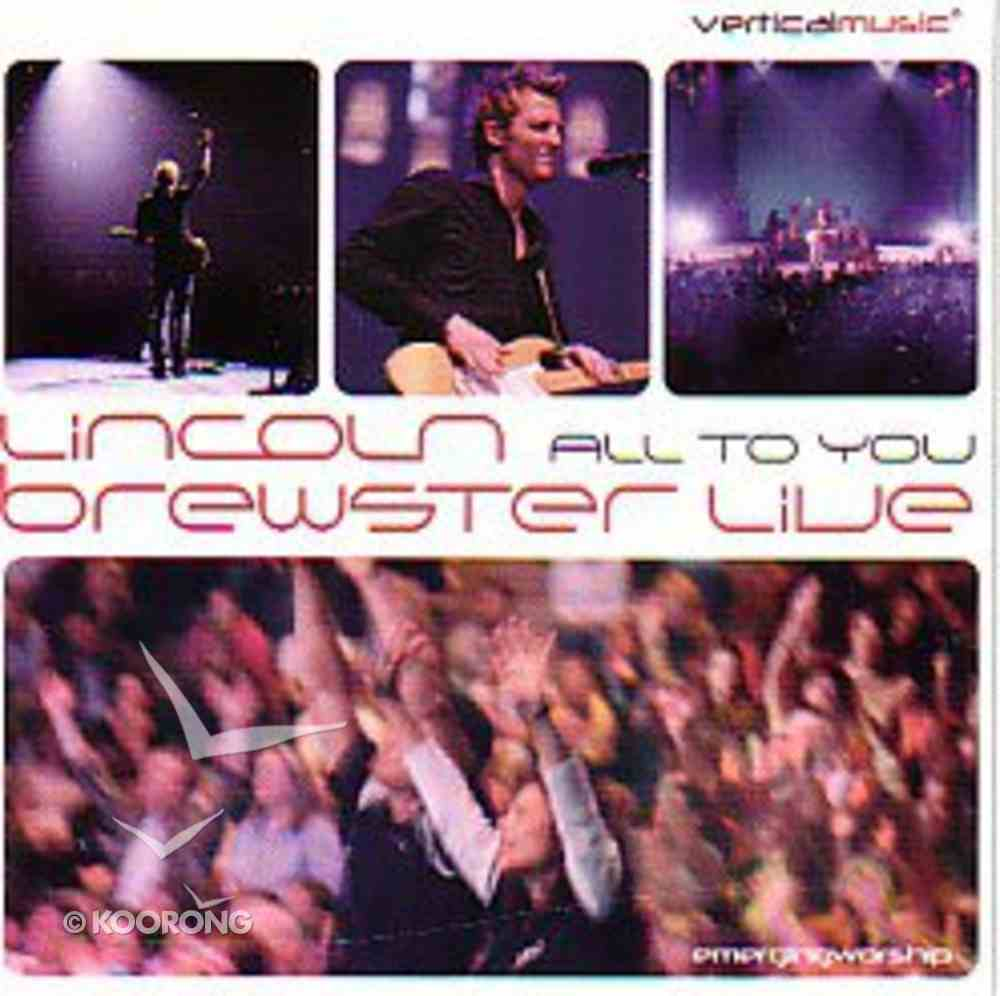 All to You.... Live CD