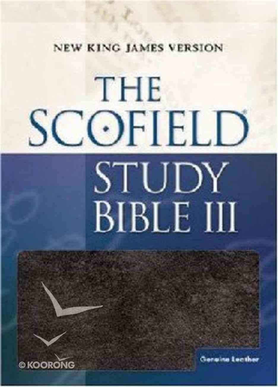 NKJV Scofield III Study Bible Burgundy Genuine Leather