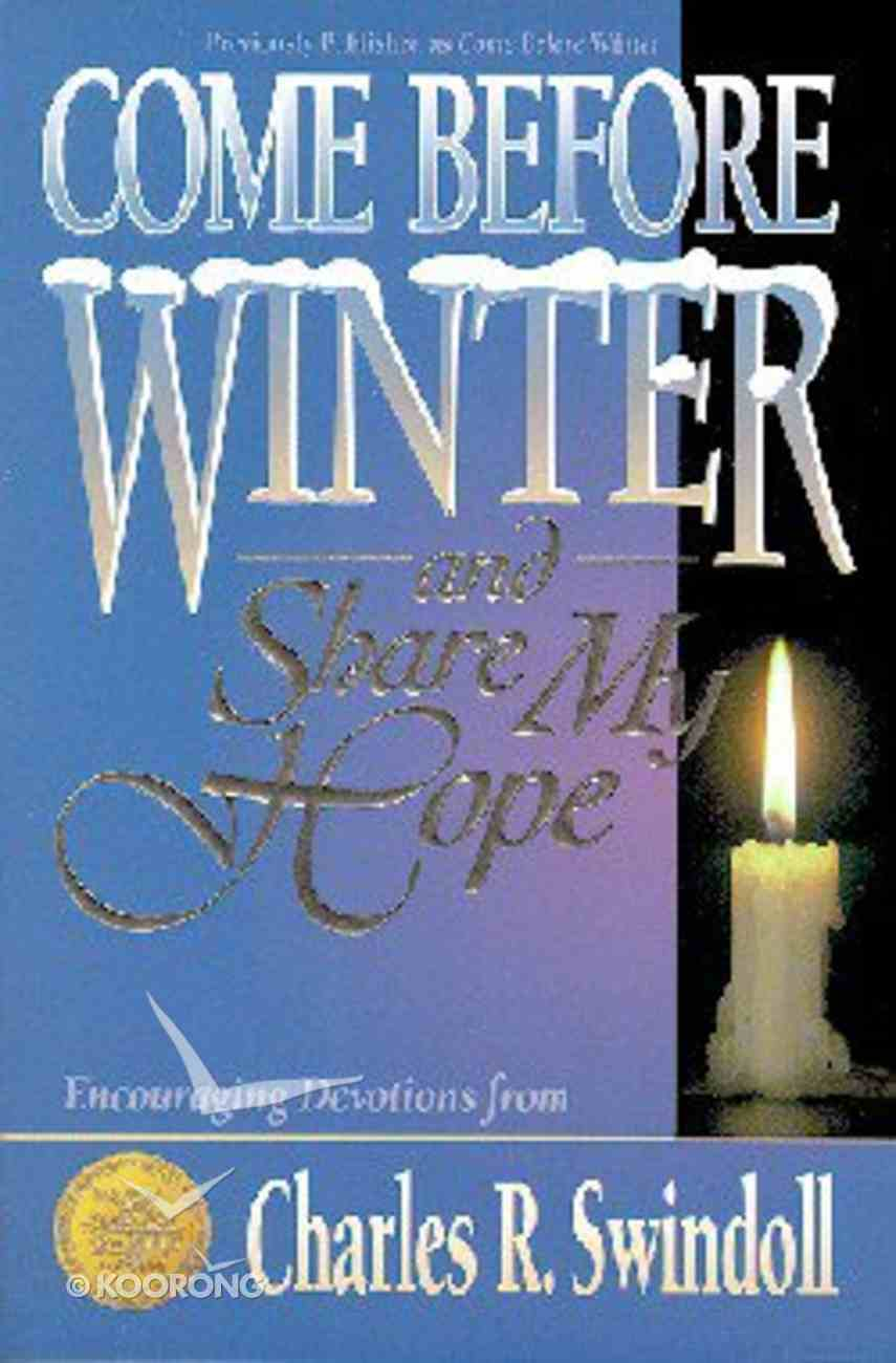 Come Before Winter Paperback