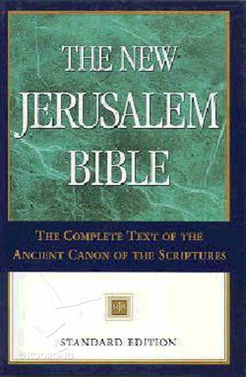 The New Jerusalem Bible Standard Edition Hardback