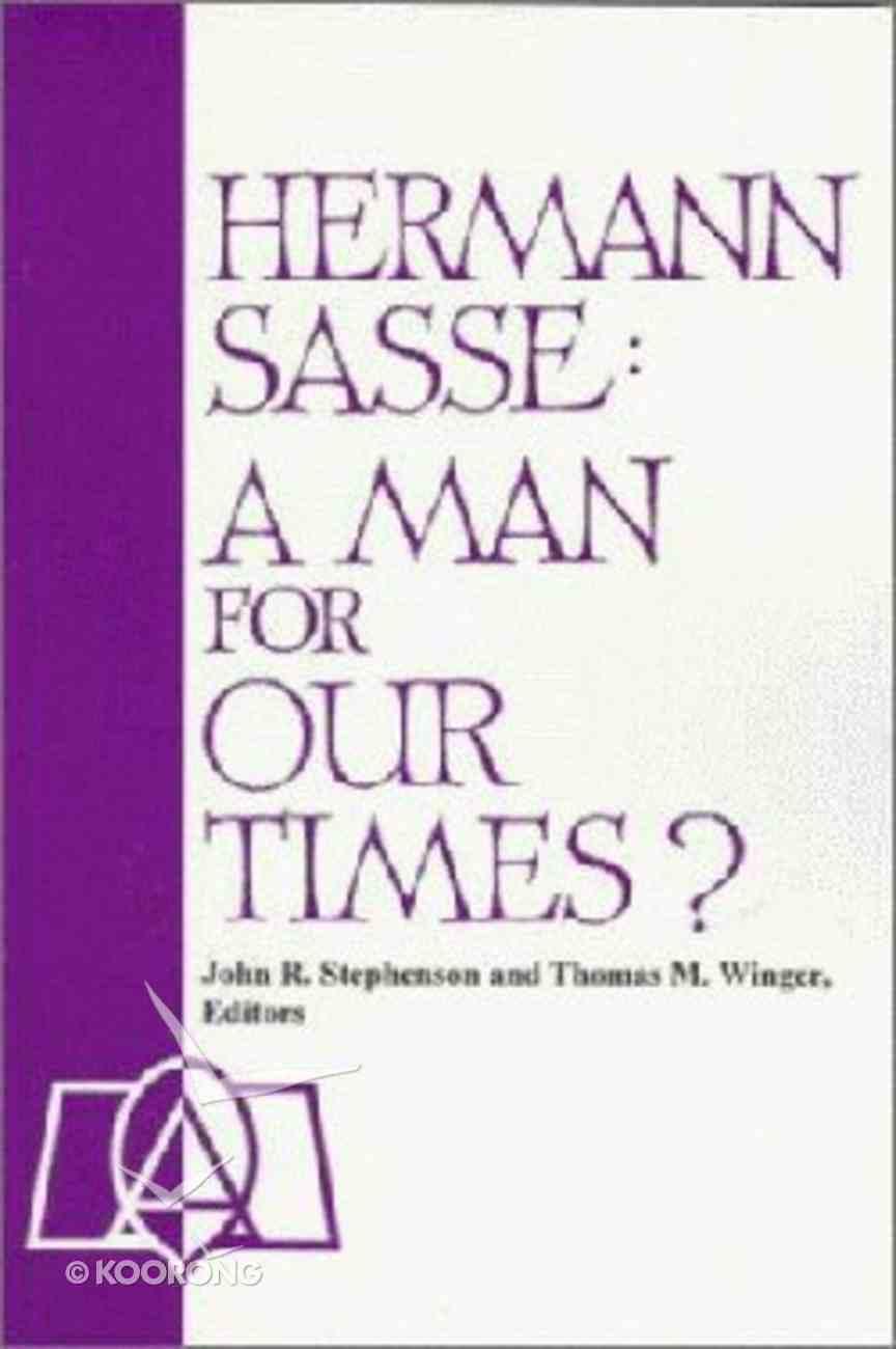 Hermann Sasse Paperback