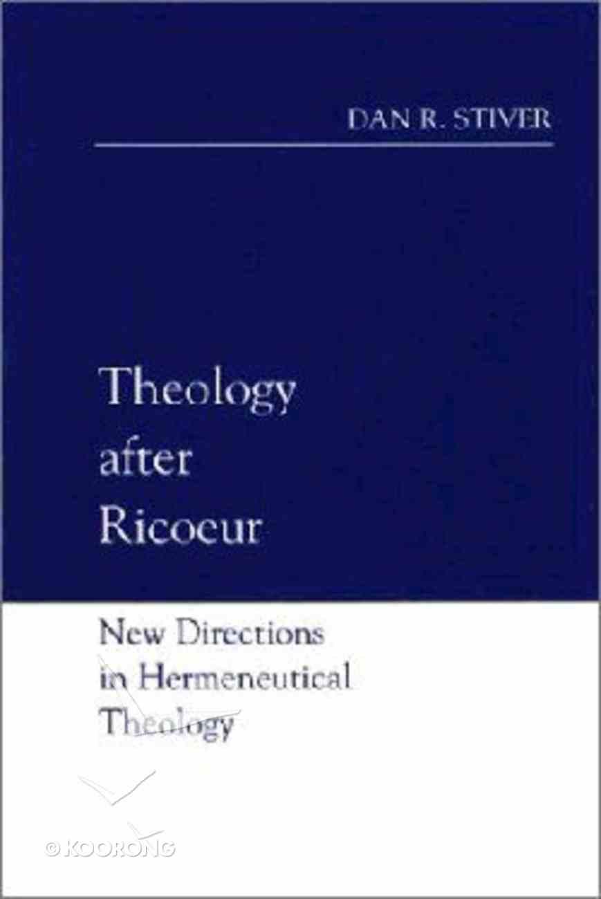 Theology After Ricoeur Hardback
