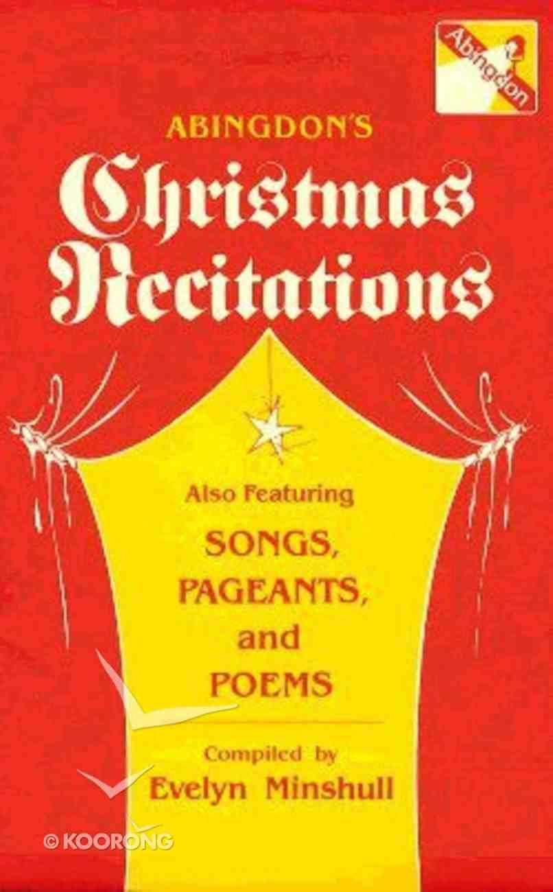 Abingdon's Christmas Recitations Paperback