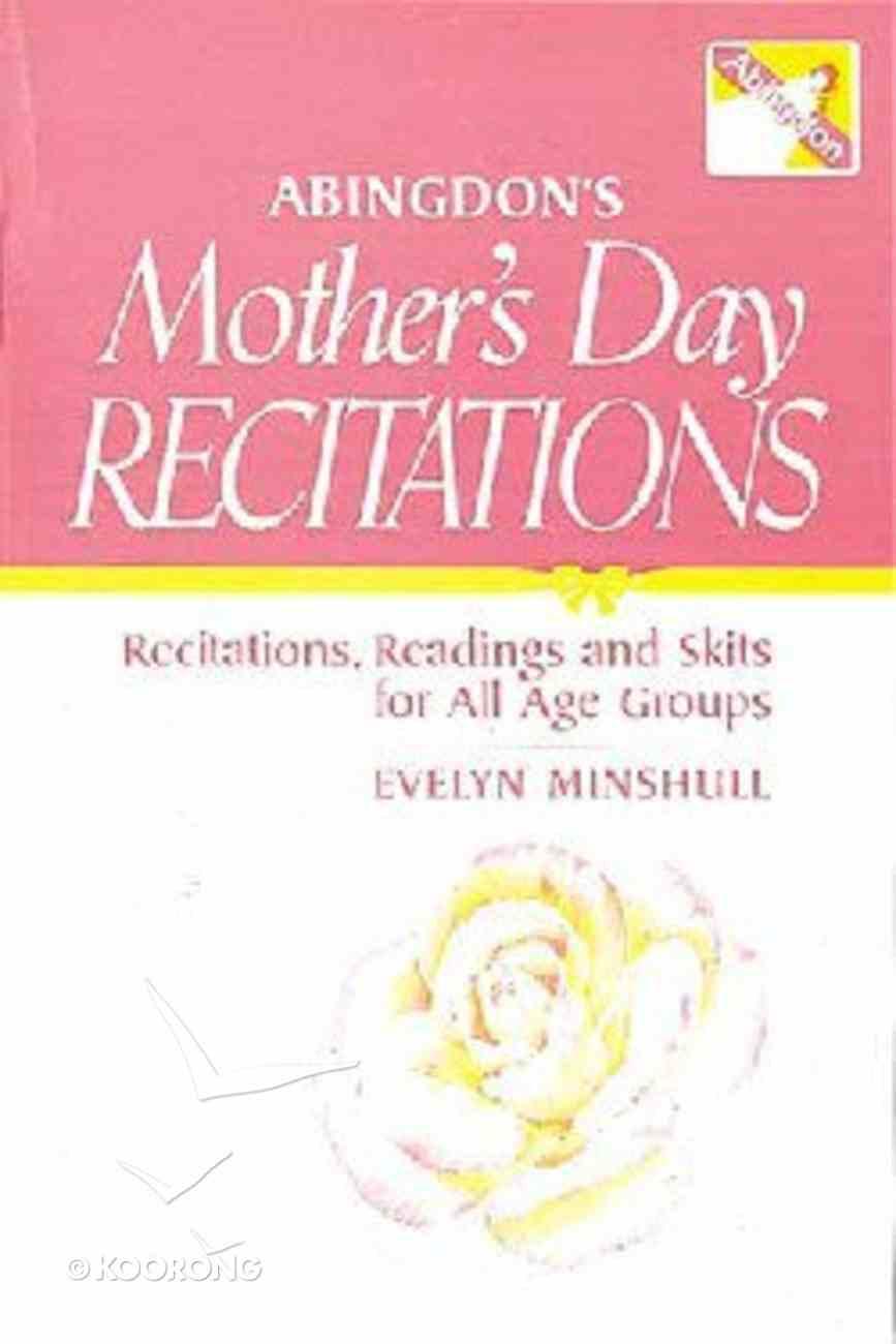 Abingdon's Mother's Day Recitations Paperback