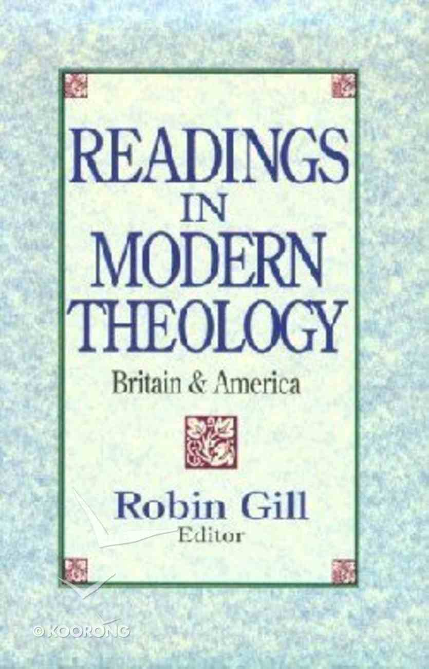 Readings in Modern Theology Paperback