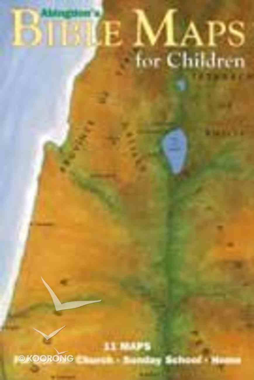 Abingdon's Bible Maps For Children Chart/card
