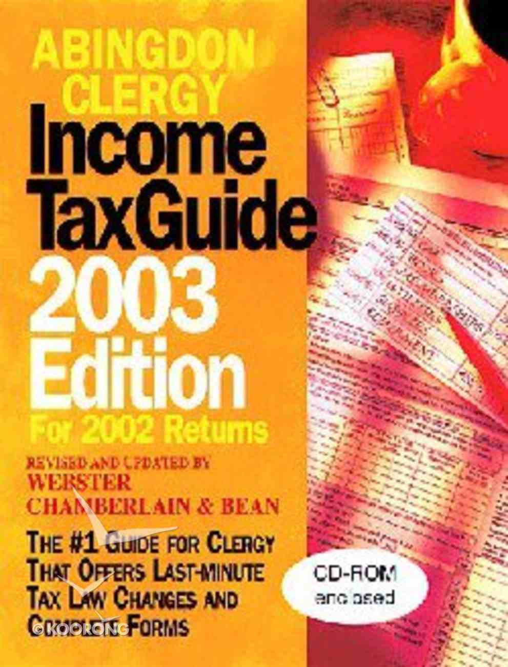 Abingdon Clergy Income Tax Guide (2003 Edition) Paperback