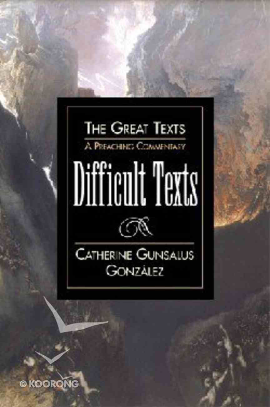 Difficult Texts (Great Texts Series) Paperback