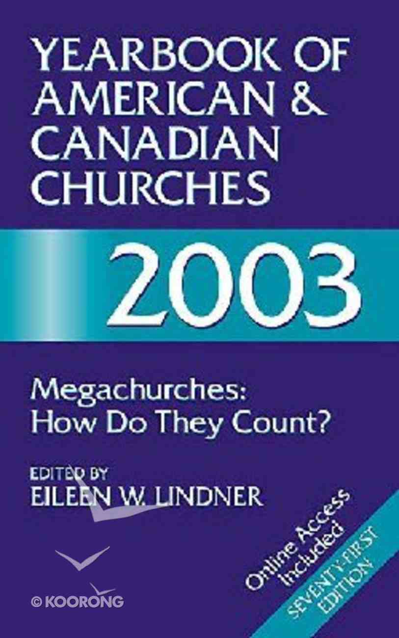 Yearbook of American & Canadian Church 2003 Paperback