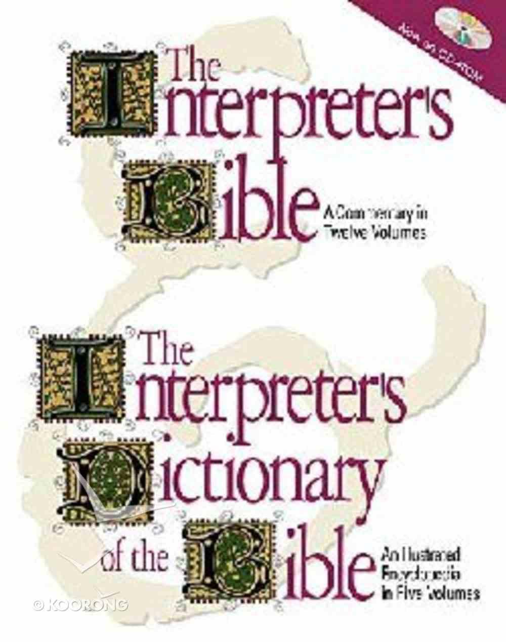 Interpreter's Bible and Dictionary CDROM CD-rom