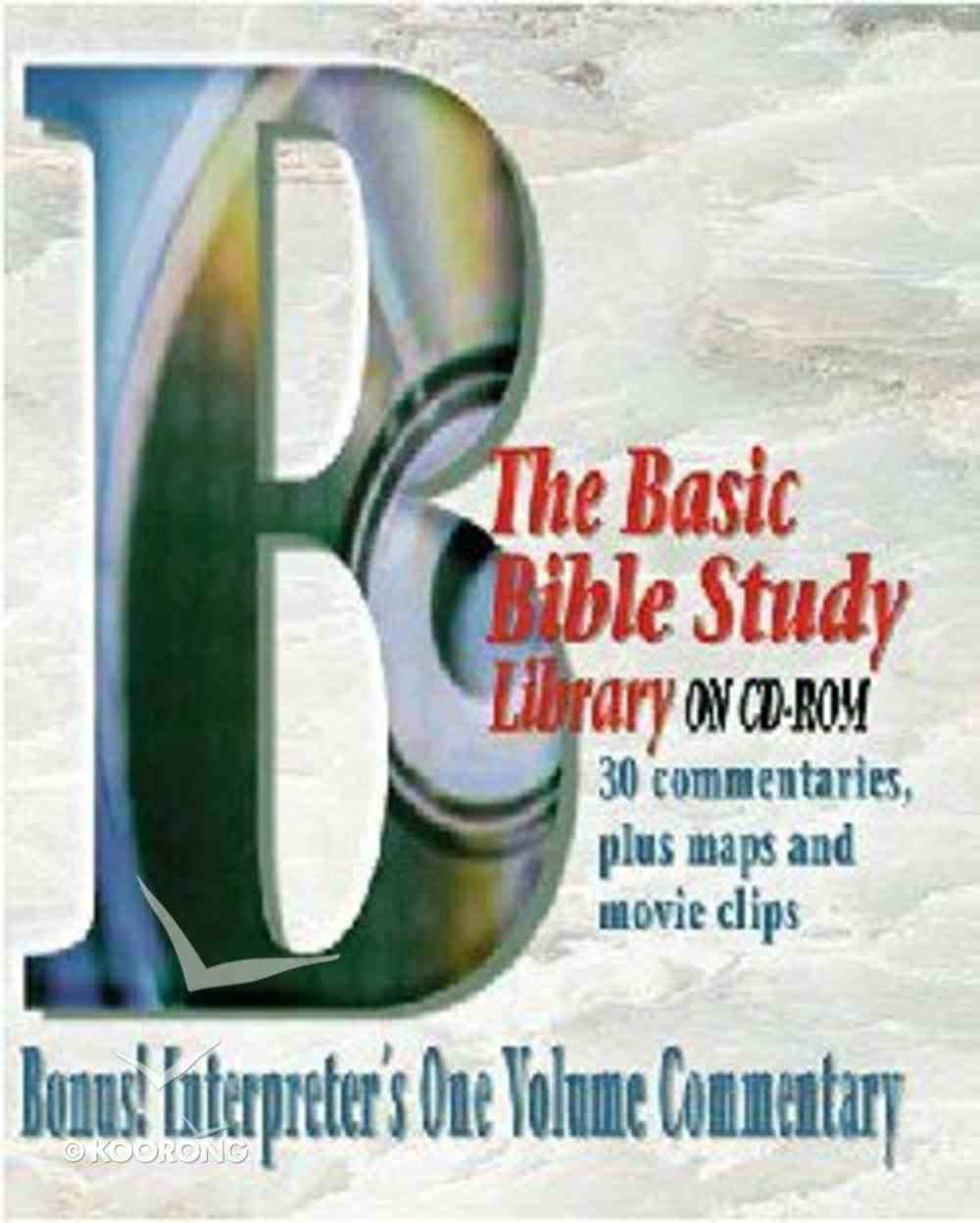 Basic Bible Study Library on CDROM CD-rom