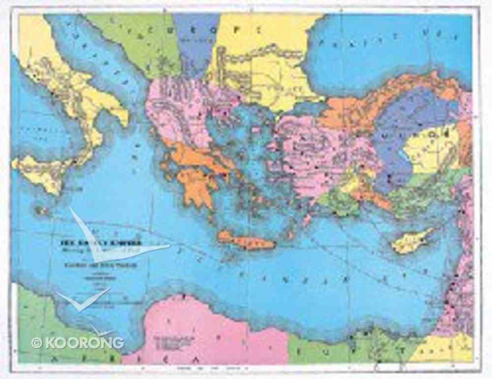 Abingdon Class Maps: Roman Empire and Journeys of Paul Chart/card