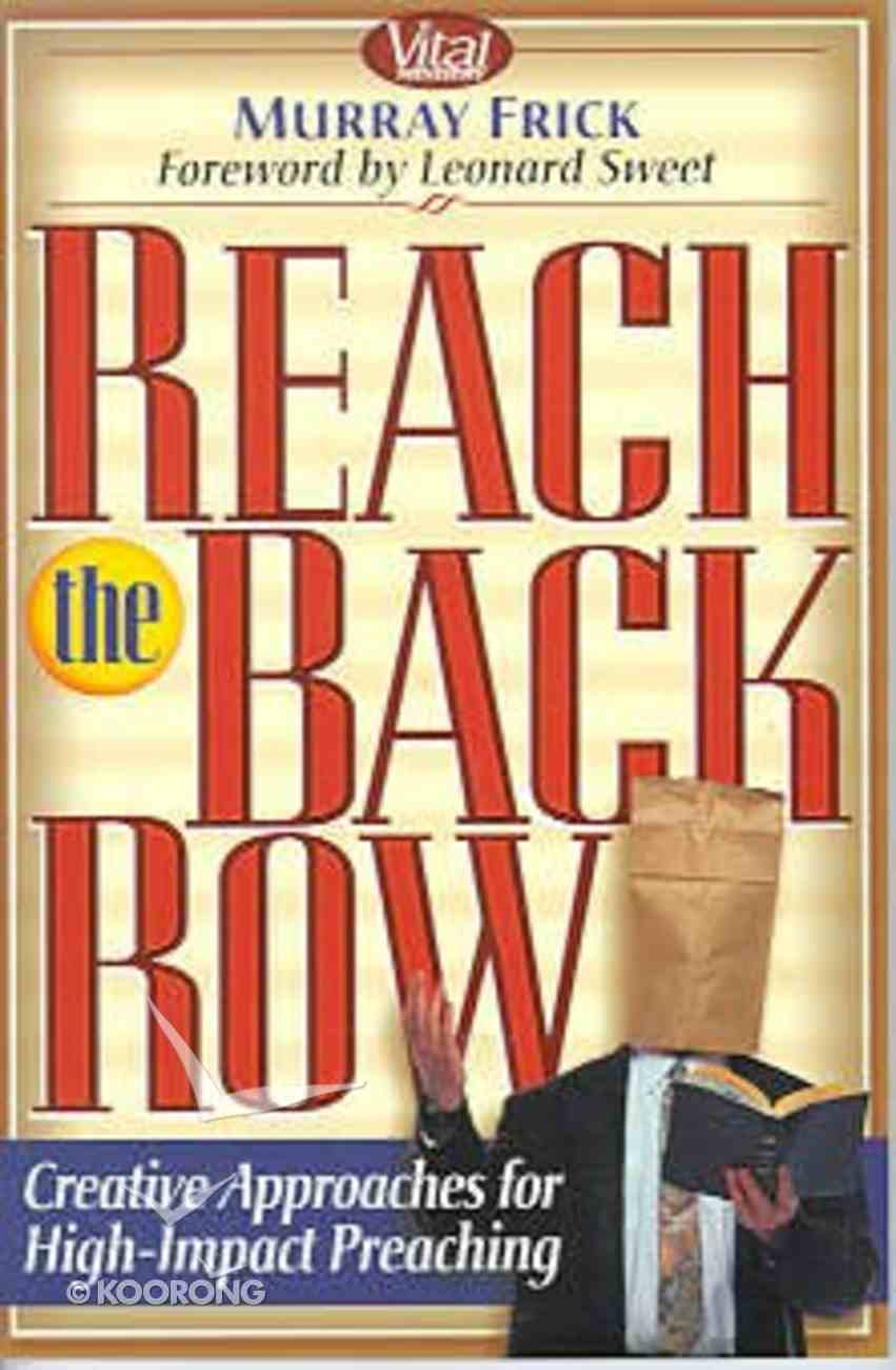 Reach the Back Row Paperback