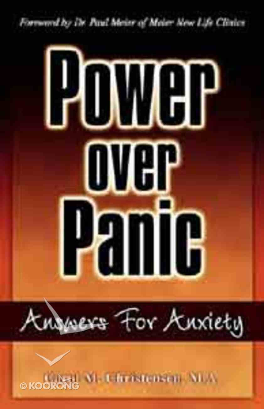Power Over Panic Hardback