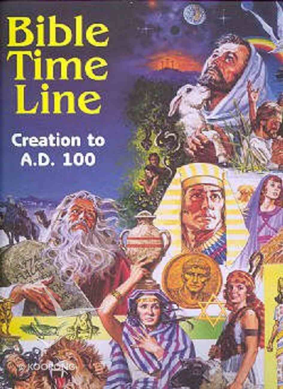 Bible Time Line: Creation to Ad100 Chart/card