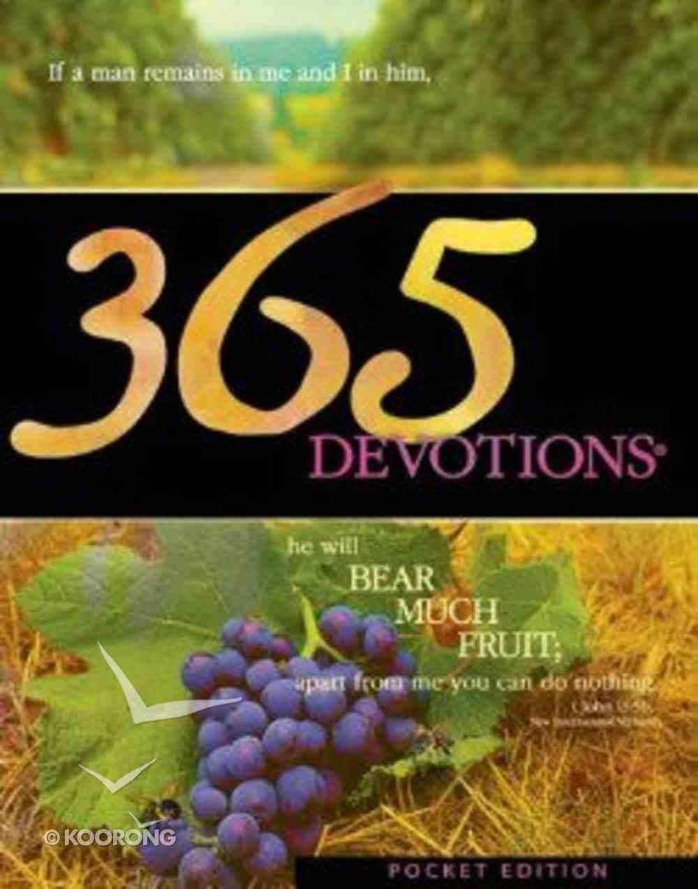 365 Devotions (2005 Pocket Edition) Paperback