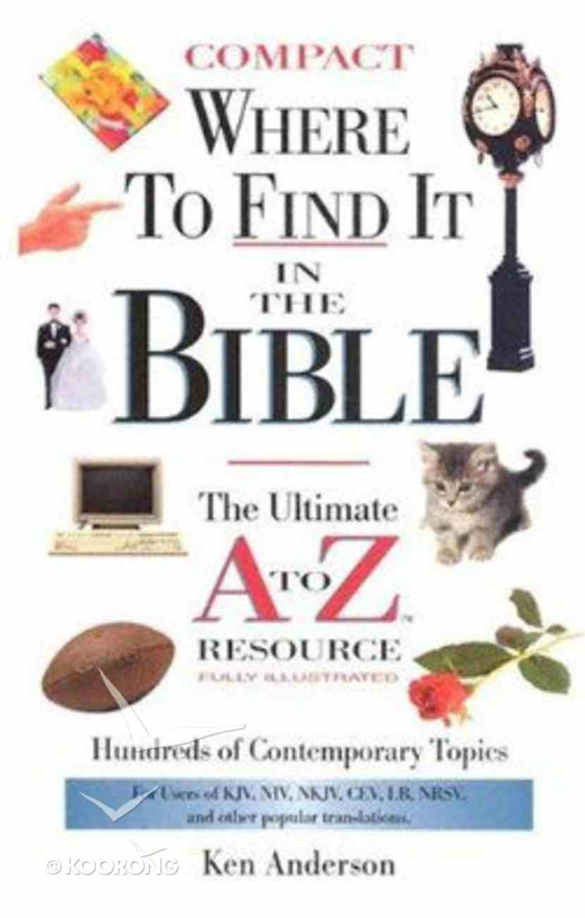 Where to Find It in the Bible Hardback