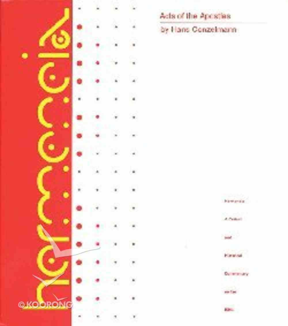 Acts of the Apostles (Hermeneia Series) Hardback