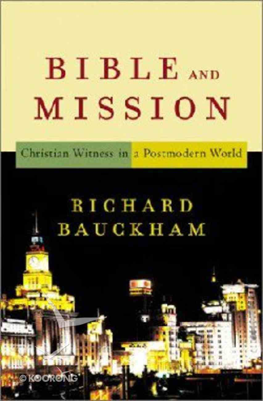 Bible and Mission Paperback